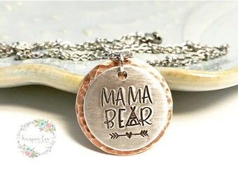 MAMA BEAR ~ Tee Pee ~ Wild & Free ~ Necklace ~ Good Vibes ~ Bohemian Mother ~ Gypsy Soul ~ Free Spirit ~ Wild Heart ~ Boho Chic ~ Yoga Mom