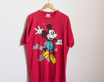 1990s Oversize Pop Art Mickey Mouse Tee // One Size