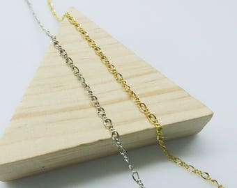 Brass Chain, 3mm Figaro Chain, Price Per Yard