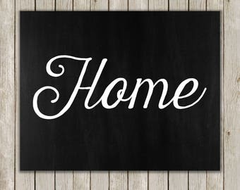 8x10 Home Printable, Home Wall Art, Home Decor Print, Housewarming, Minimal Home Art, Typography Print, Digital Art Poster, Digital Download