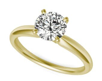 2/3 ct. Round Diamond Solitaire Ring, 14k Gold