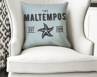 18x18 Custom New Home Pillow, Wedding Pillow, Last Name Pillow or Pillow Cover, Date Pillow, Mr and Mrs Pillow, Family Established Pillow