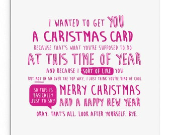 I wanted to get you a Christmas card... Cheeky, cute, funny Christmas card for boyfriend or girlfriend or love interest!