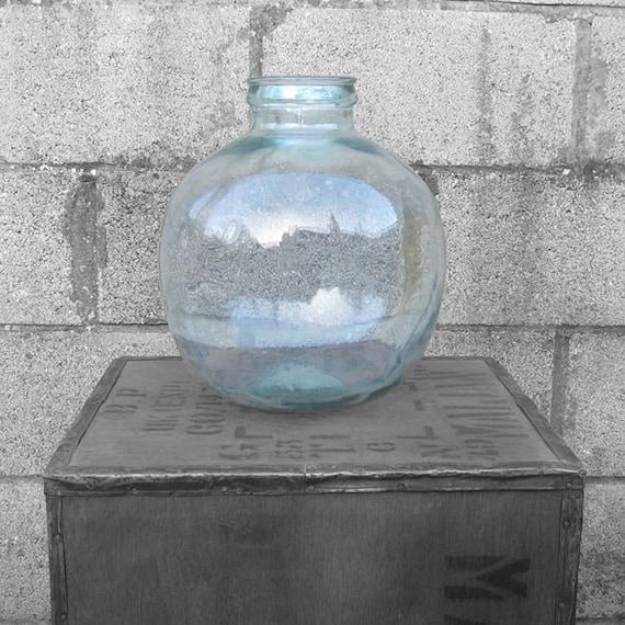 Carboy Bottle Beautiful Large Antique Garden Growing Green Glass Vase