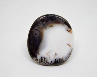 dendritic agate cabochon shape, Agate gemstone cabochon, dendritic opal cabochon, merlinite cabochon, dendritic quartz