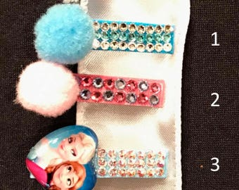 Frozen Crystal Barrette Set