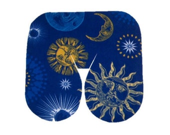 Seamless Night Sky Print Fleece Massage Face Pad Drape