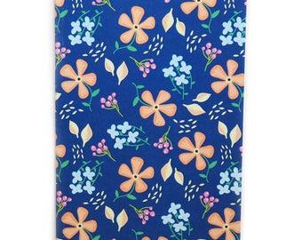 A6 Notebook | Navy Floral
