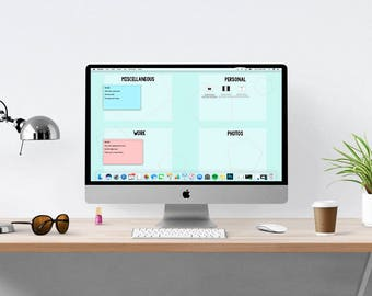 Desktop Wallpaper Organizer | Computer Organizer | Computer desktop wallpaper | Laptop desktop wallpaper organization