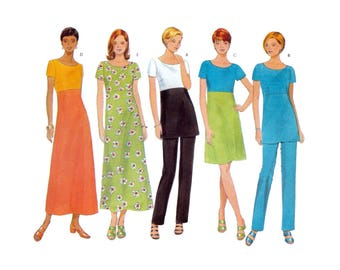 Women's Dress, Tunic, Pants Sewing Pattern Plus Size 18-20-22 Uncut Butterick 5044