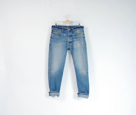 SALE - Vintage Levi's 517 baggy mechanic's jeans / size w34-36 l32
