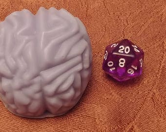 Brain -  High Quality Goats Milk Soap with d20 inside.