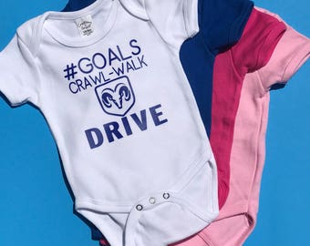 Dodge Ram Baby Goals Bodysuit or Tshirt