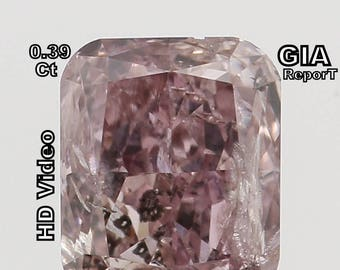 GIA CERTIFIED 0.39 Ct Fancy Brownish Pink Cushion Loose Diamonds L5852 Bkk