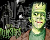 "Herman Munster of The Munsters with The Munster House 11"" x 17"" Original Art Print/Poster"