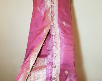 FREE  SHIPPING   1950  Silk  Dress  and  Coat  SET