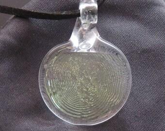 Lampwork Clear Glass Thumbprint Original Invention