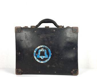 Vintage Bell System Service Suitcase Old 1950s Vintage Bell Telephone Servicemans Repair Bag Suitcase Vintage Black Suitcase Bell Systems