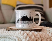 Pacific Northwest Campfire Mug // Coffee Mug // Rainier Mug