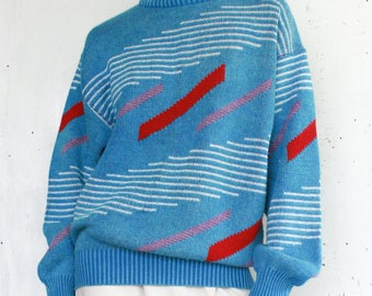 Funky 80's Geometric Sweater
