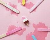 Ice cream pin, Polymer clay jewelry, Popsicle pin, Icecream party, food pin, disney pins, Neapolitan Ice Cream, Christmas gift idea, fun pin