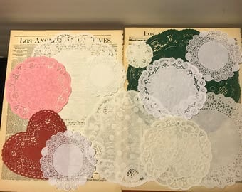 12 pc Doilies variety- set 1