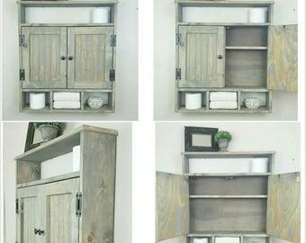 Medicine Cabinet Bath Storage Cabinet Hanging Cabinet Shabby Chic