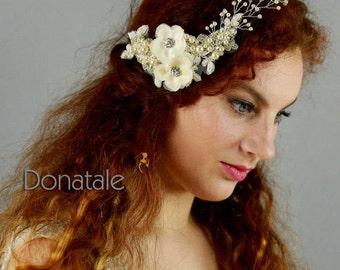 ON SALE Wedding Hair Comb ,Wedding Hair Piece ,Bridal Headpiece, Lace Comb, Bridal hair piece, Bridal hair Comb, Wedding Headpiece - PETRA