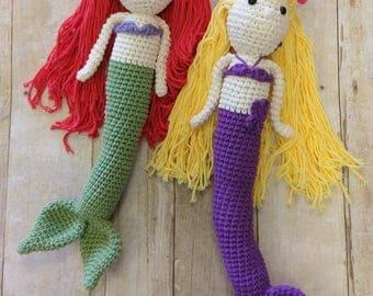 Mermaid Doll, Crochet Mermaid Doll, Mermaid Toy, Knitted Mermaid, Crocheted Mermaid, Crocheted Mermaid Doll, Crochet Mermaid Toy