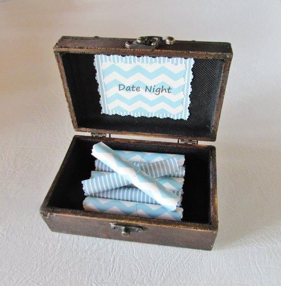 Husband Gift, Date Night Scrolls Box, Date Nights in Wood Box, Christmas Gift, Anniversary Gift, Birthday Gift, Wood Anniversary, Custom