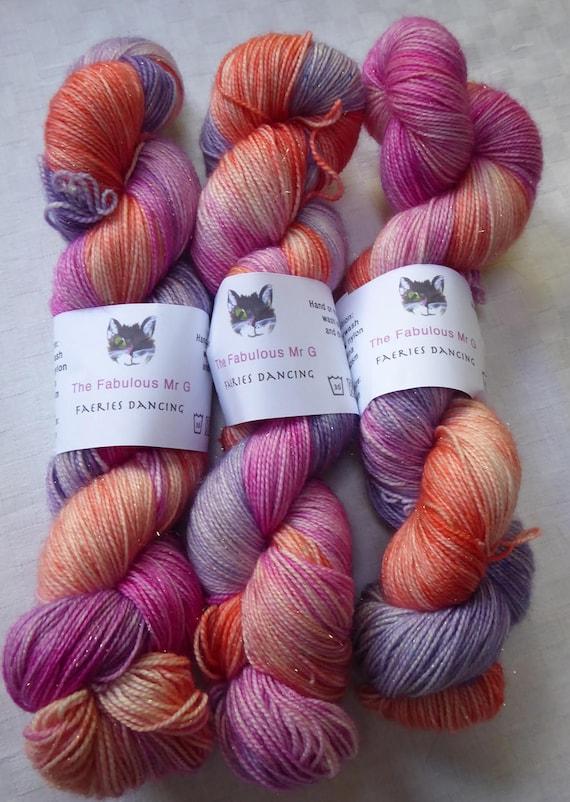 Very Pink Knits Sock Pattern : Faeries Dancing: Hand Dyed Yarn Sock Yarn Hand Dyed Sock