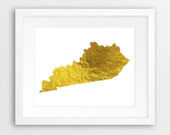 Kentucky State Map Etsy - Kentucky map usa
