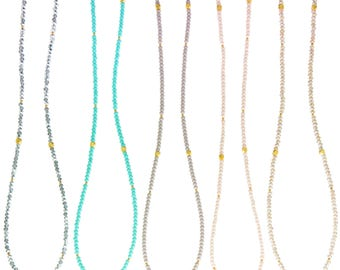 Crystal Beaded Layering Necklaces