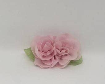 Small Pink Wedding Dog Collar Flower Crown Wreath Cat Collar Flower Girl Dog