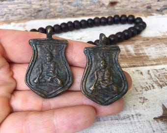 Set of 2 Thai Buddha Amulet Pendants / Thai Amulets / Amulets /Thai Buddha Amulets / Buddhist Amulets / S20