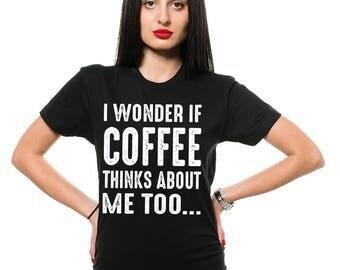 Coffee Fan T-Shirt Funny Coffee Drinker Cool Tee Shirt