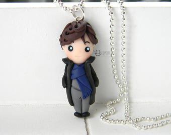 Sherlock, Sherlock Holmes inspired, 221B, necklace, Necklace,