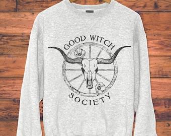 Good Witch Sweatshirt - Witch Sweatshirt - Good Witch Sweatshirt // Witch Shirt - Halloween Sweatshirt - Bohemian Clothing