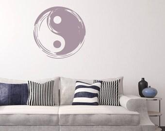 Zen Symbol Decals Etsy - Zen wall decalsvinyl wall decal yin yang yoga zen meditation bedroom decor