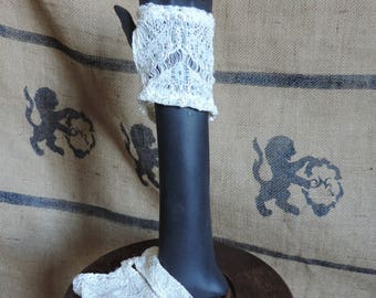Mittens, fingerless gloves, white ecru lace, wedding, lolita
