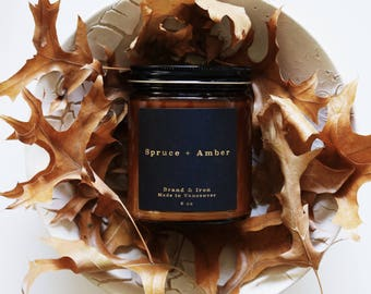 Spruce & Amber - Amber Apothecary jar candle | soy candle | candle gift, home decor