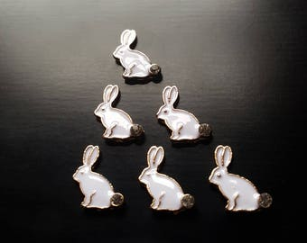 Bunny Rabbit Floating Charm for Floating Lockets-Easter Bunny Charm-Gift Ideas for Women