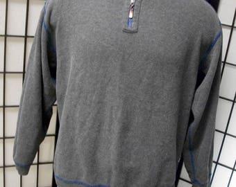 Men's Blue/Gray Reversible 1/2 Zip Sweater Tommy Bahama L XL