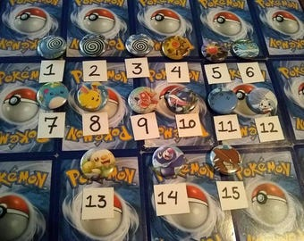 Water type Pokémon buttons