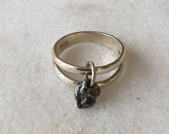 Meteorite Ring | Meteorite Jewelry | Meteorite Rings | Valentine Gifts For Her | Valentine Jewelry | Meteorite Ring For Women | Unique Rings