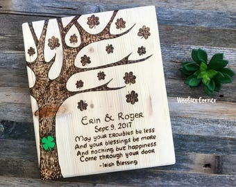 Irish blessing wedding gift