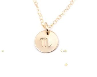 Zodiac Necklace, Cancer Zodiac, Zodiac Jewelry, Zodiac Charm, Necklace, Astrology Jewelry, Gold Filled Zodiac Jewelry, Birthday Gift for Her