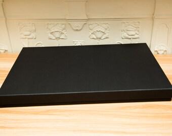 A3 Black rectangle large gift box. Deep Photograph box. Painting, artwork Box. A3 Scarf, blanket box. . 43cm x 30.5cm x 3.5cm box. Black box