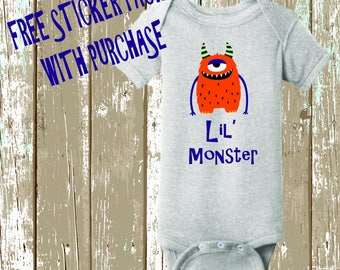 Lil' Monster Onsie with free sticker pack & FREE SHIPPING!