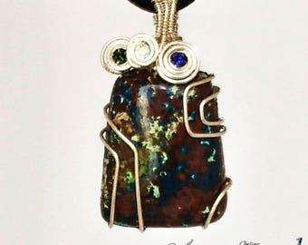925 silver chrysocolla pendant